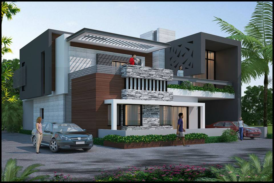 Jaipur interiors exterior for Villa exterior design ideas
